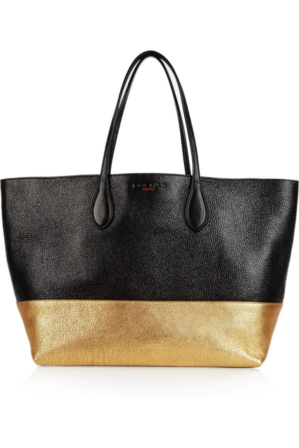 b405686bcc Bag of the day  Rochas Two-tone textured-leather tote
