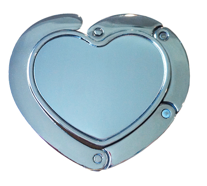 Heart Shaped Mirror Purse Hook